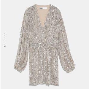 BRAND NWT Zara Sequin Dress Blazer sz SM